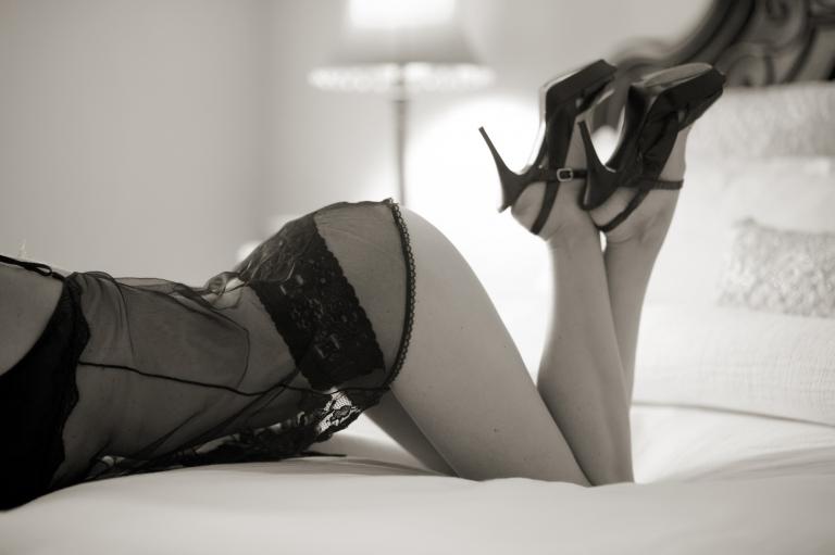sheer black lingerie